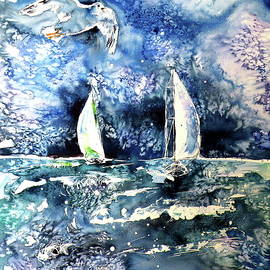 Kovacs Anna Brigitta - Sailboat with seaguls