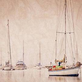 Sailboats in Morro Bay Fog by Flying Z Photography by Zayne Diamond