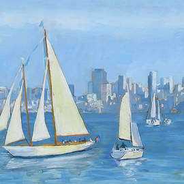 Dominique Amendola - Sailboats in Sausalito
