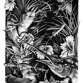 Sailfish Collage by Jacqueline Endlich