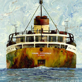 Sailing Away - The Edmund Fitzgerald by Stefanie Moran