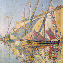 Sailing Boats in St Tropez Harbour, 1893  - Paul Signac
