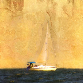 Sailing by the Cliffs by Hal Halli