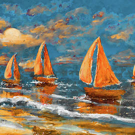 Ken Figurski - Sailing Early Moonrise Alt