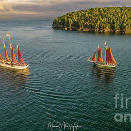 Sailing Frenchman Bay by Michael Hughes