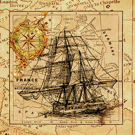 Sailing Ship Map by Lucia Sirna