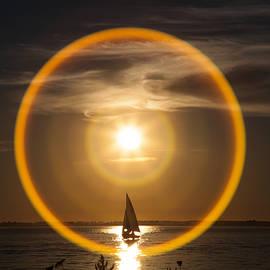 Sailing through the Iris by Monte Arnold