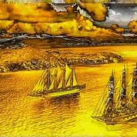 Sailing Under Golden Skies by Mario Carini