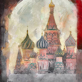 Yury Malkov - Saint Basil View at Entering Red Square