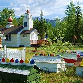 Saint Nicholas Orthodox-eklutna Alaska by Cheryl Fecht
