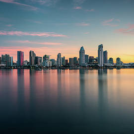 San Diego Skyline At Dawn by James Udall