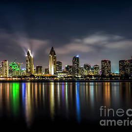 Ken Johnson - San Diego Skyline At Night