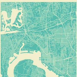 SAN DIEGO STREET MAP - Jazzberry Blue