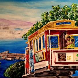 San Francisco Cable Car by Irving Starr
