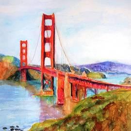 San Francisco Golden Gate Bridge Impressionism by Carlin Blahnik CarlinArtWatercolor