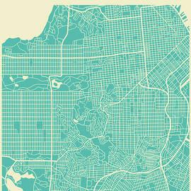 SAN FRANCISCO STREET MAP - Jazzberry Blue