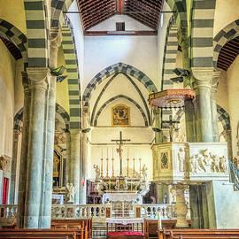 San Giovanni Battista Riomaggiore Church by Joan Carroll