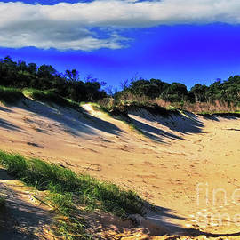 Kaye Menner - Sand, Shadows and Blue Sky by Kaye Menner