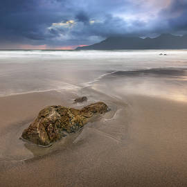 Sandy Beach in the Evening, Isle of Eigg, Scotland, United Kingd by Andrey Omelyanchuk