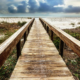 Sandy Boardwalk on the Dunes by Debra and Dave Vanderlaan