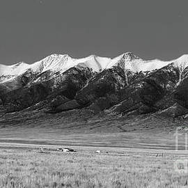 Sangre de Cristos  Dusk in Black and White - Twenty Two North Photography