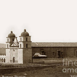Santa Barbara Mission Circa 1885 by California Views Archives Mr Pat Hathaway Archives
