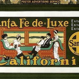 Studio Grafiikka - Santa Fe De Luxe California - Railway - Retro travel Poster - Vintage Poster
