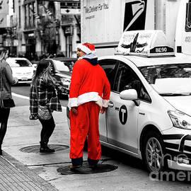 Santa Forgot His Sled In New York City by John Rizzuto