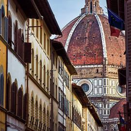 Santa Maria del Fiore from Via Dei Servi street in Florence, Italy by Fine Art Photography Prints By Eduardo Accorinti