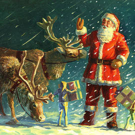 Santas And Elves by David Price