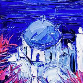 Mona Edulesco - SANTORINI CHURCH VIEW - MINI CITYSCAPE #03