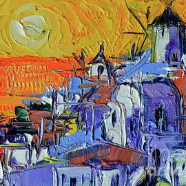 Mona Edulesco - Santorini Oia Sunset - Mini Cityscape 03