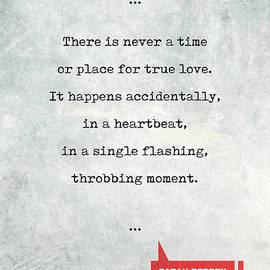 Studio Grafiikka - Sarah Dessen Quotes 2 - Literary Quotes - Book Lover Gifts - Typewriter Quotes