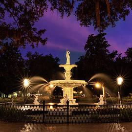Savannah Forsyth Park Fountain Sunset by Norma Brandsberg
