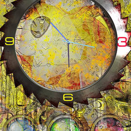 L Wright - Saw Blade Clock Abstract