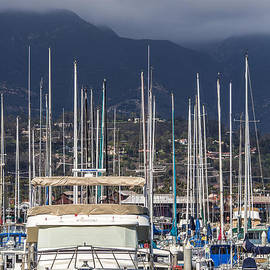 SB Harbor with Mountains by Shawn Jeffries