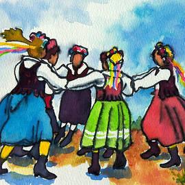 Scandinavian Dancers by Kathy Braud