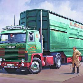 Scania sheep wagon. - Mike Jeffries