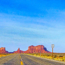 Barbara Zahno - Scenic Highway to Monument Valley