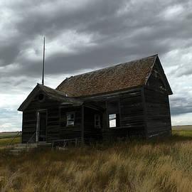 Schoolhouse on the prairie by Jeff Swan