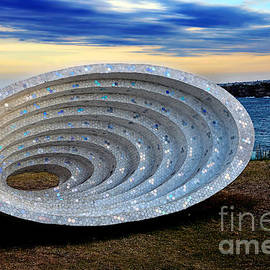 Sculpture by the Sea - Space Time Continuum by Kaye Menner