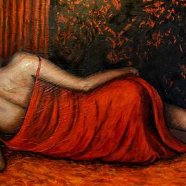 Sdraiata in rosso by Riccardo Maffioli