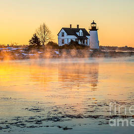 Sea Smoke At Prospect Harbor by Susan Cole Kelly