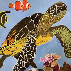 Sea Turtle by Reef by Jeremy Holbrook