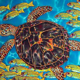 Daniel Jean-Baptiste - Sea Turtle with Schooling Fish