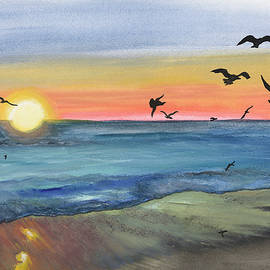Donna Mann - Seagulls at Sunrise
