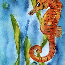 Seahorse with Sea Grass
