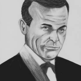 Roy Williams - Sean Connery Pencil Drawing Digital Art