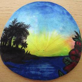 Mary Ellen Frazee - Seascape on a Sand Dollar