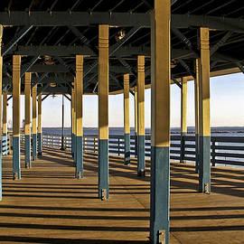 Seascape Walk on the Pier by Carol F Austin